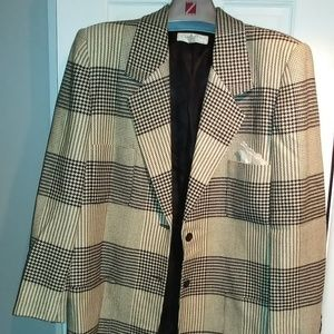CHRISTIAN DIOR Black/White Womens Suit